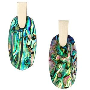 NEW Kendra Scott Aragon Gold Abalone Shel Earrings